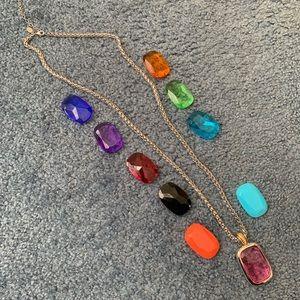 Joan Rivers SILVERtone interchangeable necklace
